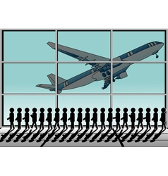Airport and queue vector