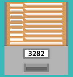 box with documents vector image