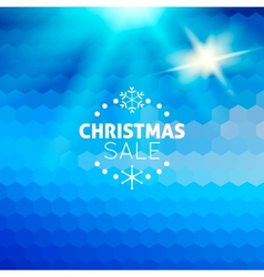 Christmas sale abstract blue background vector image