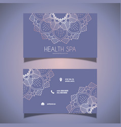 decorative business card design vector image vector image