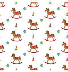 doodle rocking seamless pattern vector image vector image