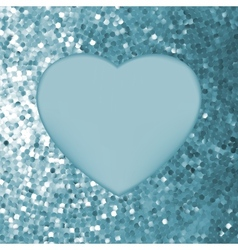 elegant mosaic glowing heart vector image vector image