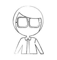 female nerd avatar character vector image vector image