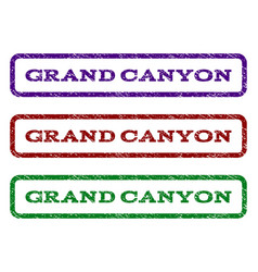 Grand canyon watermark stamp vector