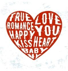 Grunge heart vintage stamp vector image
