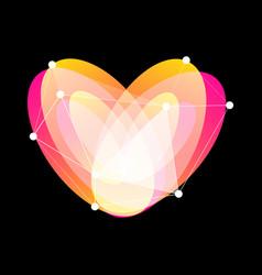 Happy valentines day logo unusual vector