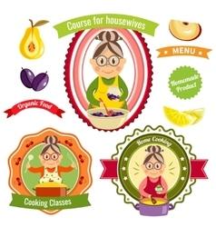 Home cooking logos vector
