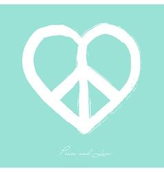 Isolated heart shape peace symbol brush style vector