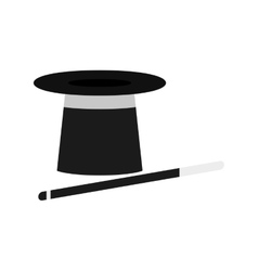 isolated magician hat vector image