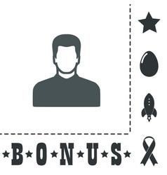 male avatar profile picture - vector image vector image