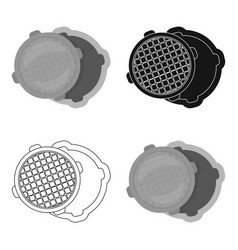 Manhole icon in cartoon style isolated on white vector