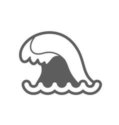 Ocean wave outline icon summer vacation vector