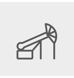 Pump jack oil crane thin lihe icon vector
