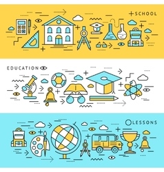 School Education Banners Set vector image vector image