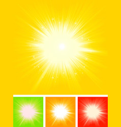 Summer sun starburst vector