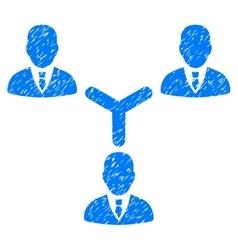 Teamwork grainy texture icon vector