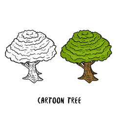 tree cartoon trees isolated on white background vector image vector image
