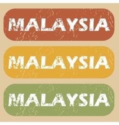 Vintage malaysia stamp set vector