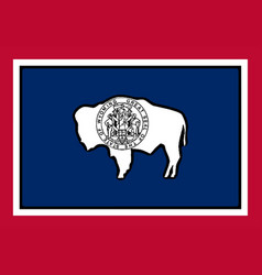 Wyoming state flag vector