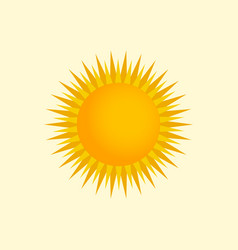 yellow and orange sun vector image