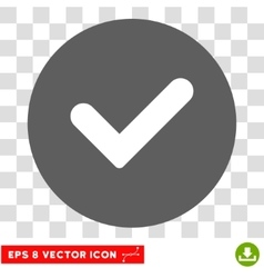 Yes Round Eps Icon vector image