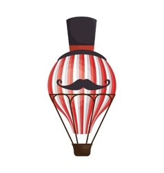 circus balloon air hot icon vector image