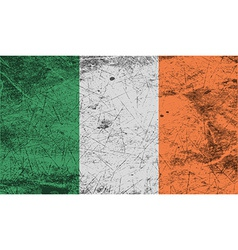 Flag of ireland with old texture vector