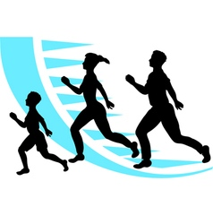 jogging sport family vector image