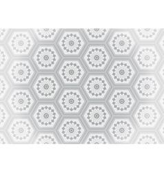 Geometric gray flower seamless pattern vector image