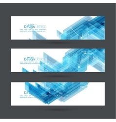 Abstract background with blue stripes corner vector