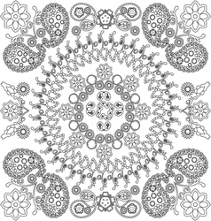 Ethnic floral and paisley doodle background vector