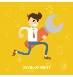 Business concept development flat vector