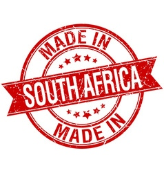 Made in south africa red round vintage stamp vector
