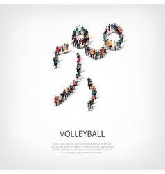 People sports volleyball vector