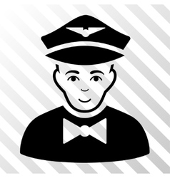 Airline steward icon vector