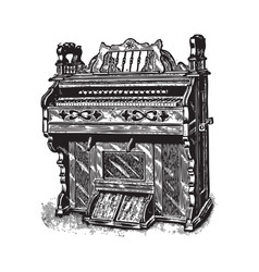 ancient piano vector image vector image