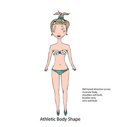 athletic body shape female body shape sketch hand vector image vector image