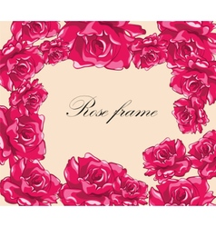 Beautiful photo frame with roses vector