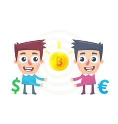 Bitcoin Exchange vector image vector image