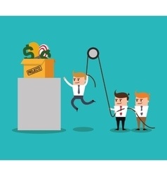 Businesman cartoon project design vector