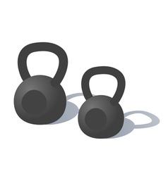 Cartoon kettlebells vector