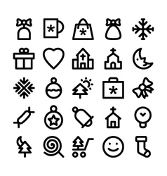 Christmas Icons 3 vector image