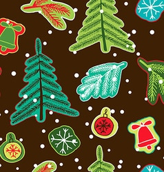 Christmas seamless cute pattern vector