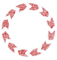 Circulation fabric textured icon vector
