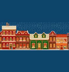 city silhouettes christmas panorama midtown vector image
