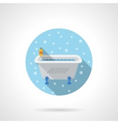 Classic bath round flat color icon vector image