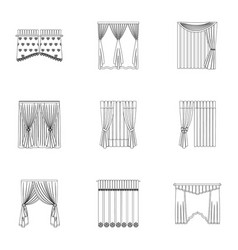 Curtains cornice lath and other web icon in vector