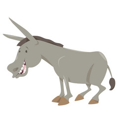 Donkey cartoon animal vector