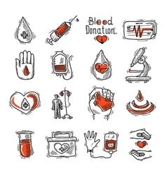Donor Icon Set vector image