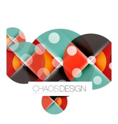 Dotted circles abstract background vector